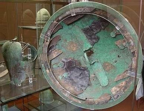 Bouclier type « Aspis Koilè », IVème siècle avant Jésus-Christ, Museo Gregoriano, Vatican : intérieur