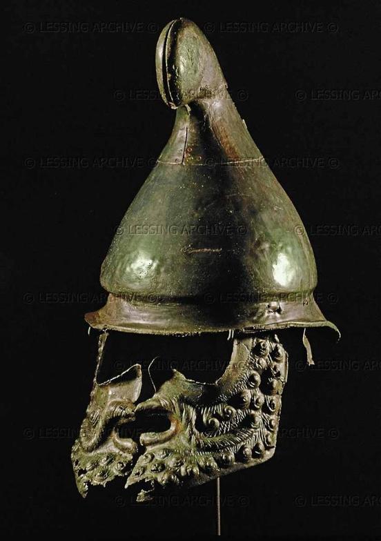 Casque type « Phrygien », Vème avant Jésus-Christ, trouvé à Sborist. District Museum, Nova Zagora, Bulgarie