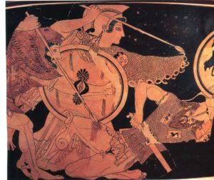 Cratère attique à figures rouges daté d'environ 510 BC