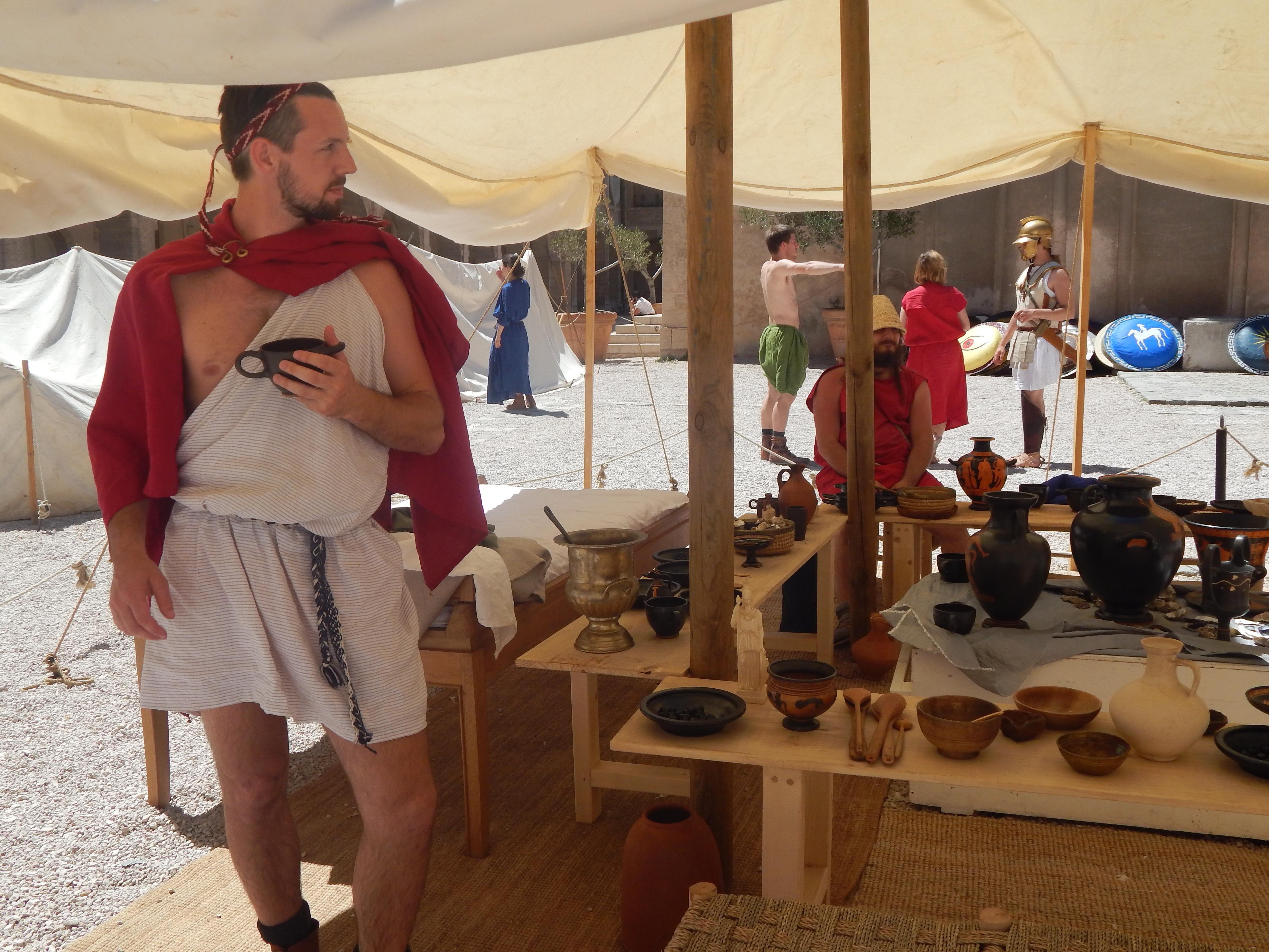 campement grec antique